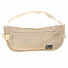 Compact Soft Nylon Waterproof Waist Bag Pouch - Beige