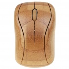 Unique Bamboo Wireless 800DPI Optical Mouse with USB Receiver (2 x AAA)