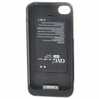 Q-Power 1700mAh Rechargeable External Backup Battery Case for iPhone 4 - White