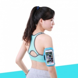 Running Mobile Phone Arm Bag, Sports Arm Band Cover for Men, Women Sky Blue
