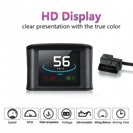 P10 bil HUD head up display, smart digitalt speedometer med OBDII / EUOBD port, LED display speedometer