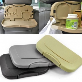 KICCY Folding Auto Car Back Seat Table, Drink Food Cup Tray Holder Stand Desk