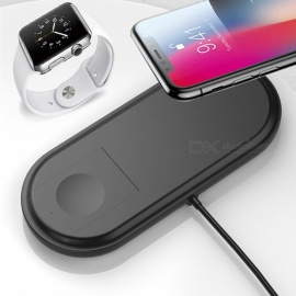 Portable Thin Fast Wireless Charger, Charging Pad for Apple Watch, IPHONE - Black