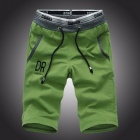 Shorts Mens Five Pants Cotton Summer Loose Casual Pants Sportswear Knee Length Sports Pants Green/XXL