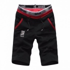 Shorts Mens Five Pants Cotton Summer Loose Casual Pants Sportswear Knee Length Sports Pants Black/XXL