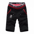 Shorts Mens Five Pants Cotton Summer Loose Casual Pants Sportswear Knee Length Sports Pants Black/L