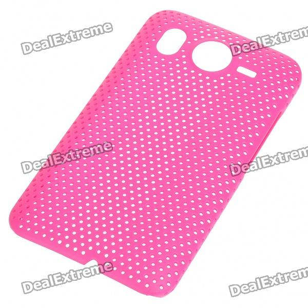 Mesh Protective PC Plastic Back Case for HTC Desire HD (Pink) replacement 3 7v 1500mah cellphone battery with charger for htc desire hd