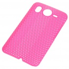 Mesh Protective PC Plastic Back Case for HTC Desire HD (Pink)