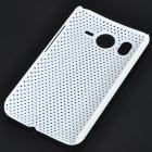 Mesh Protective PC Plastic Back Case for HTC Desire HD (White)