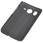 Mesh Protective PC Plastic Back Case for HTC Desire HD (Black)