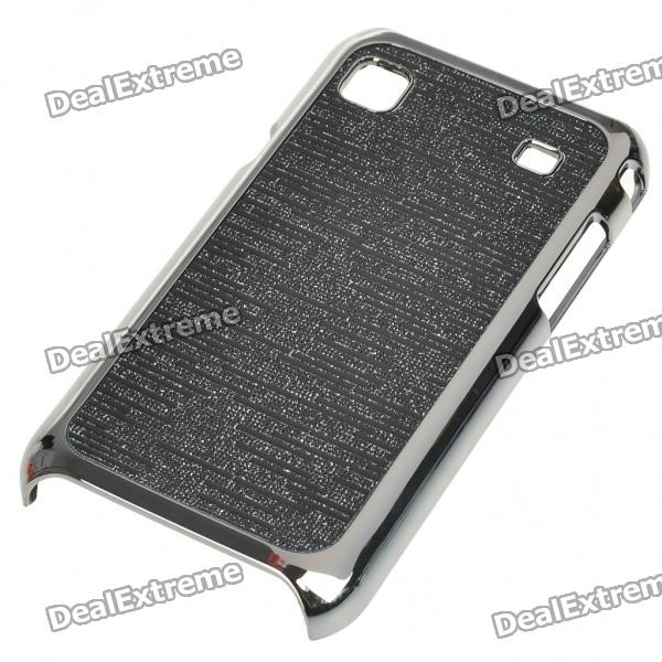 Electroplating Protective PC Back Case for Samsung i9000 Galaxy S (Black)