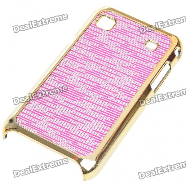 Electroplating Protective PC Back Case for Samsung i9000 Galaxy S (Pink)
