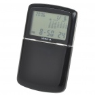 "2.0"" LCD World Time Clock with Calculator/Calendar/Alarm - Black (1 x CR2025)"