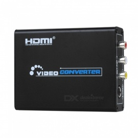 HDMI al terminal AV / s-video Adaptador convertidor de video HD - negro