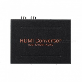 HDMI to HDMI + Audio (SPDIF + L/R) Converter - Black