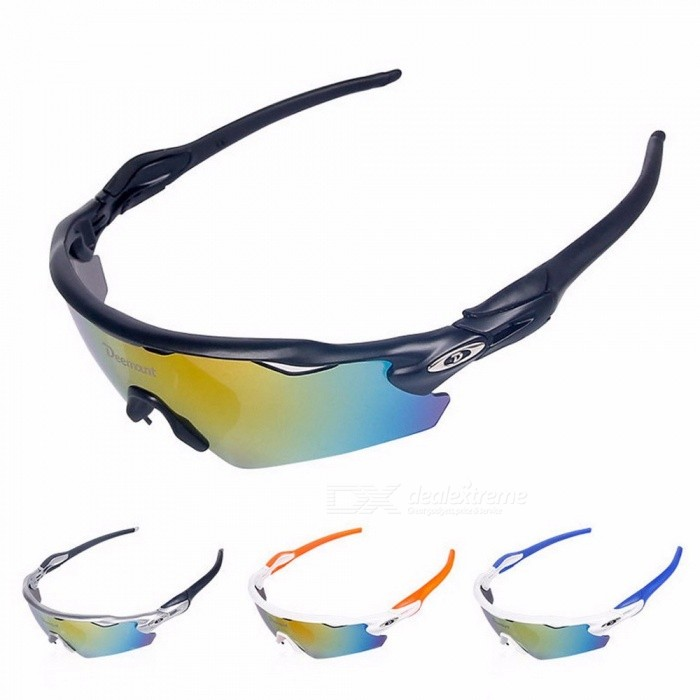e9c26c00d4 Deemount Polarized Sports Men Sunglasses Cycling Glasses Mountain Bike  Bicycle Riding Protection Goggles Eyewear 5 Lens Black One Size Multi -  Worldwide ...