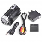 "3.0MP CMOS Digital Video Camcorder w/ 4X Digital Zoom/USB/AV/SD - Black (2.4"" LCD)"