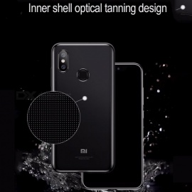 Baseus Transparent Dirt-resistant Fitted Cell Phone Case MIUI Back Phone Cases For Xiaomi 8 Gray/TPU