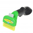 "1.75"" Stainless Steel Pet Dog Deshedding Tool - Green + Black"