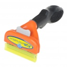 "2.65"" Stainless Steel Pet Dog Deshedding Tool - Orange + Black"