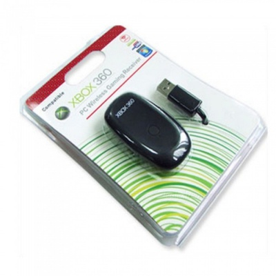 USB Wireless Receiver For Game Controller Xbox 360 PC, Wireless Gaming Accessories Black