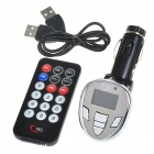 "1.0"" LCD Car MP3 Player FM Transmitter with USB Port + Remote Controller (2GB)"