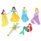Fairy Tale Princess Figure Display Toys (6-Piece Pack/Assorted)