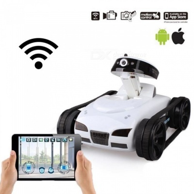 777-270 Remote Control Toy Real-time Transmission Mini WiFi RC Tank With Camera Support IOS, Android Phone Gray
