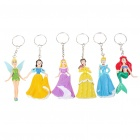 Buy Fairy Tale Princess Figure Keychains (6-Piece Pack/Assorted)