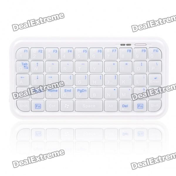 Mini Rechargeable Bluetooth 2.0 Wireless Keyboard for Android/Nokia Symbian S60 Cellphones - White