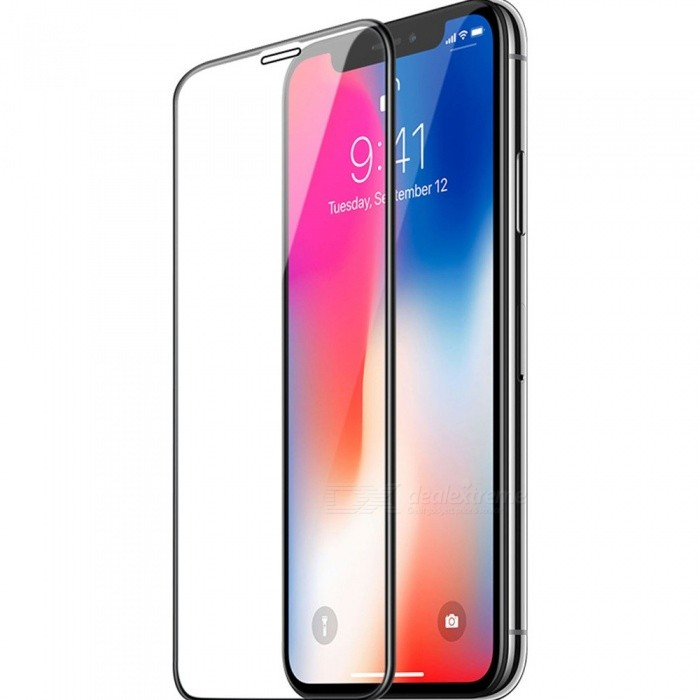 free shipping e85e9 ac85a HOCO A2 3D 0.2mm Curve Full Screen Protector For IPHONE X, Clear Tempered  Glass Screen Protector Film Black