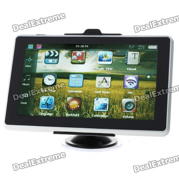 "7.0"" Touch Screen LCD WinCE 5.0 GPS Navigator w/ FM + Internal 2GB Brazil Maps"