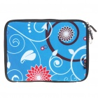 "Stylish Protective Soft Bag with Zipped Close for 10"" Laptop (Blue)"