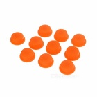 Silicone Tailcaps for Flashlights (14mm Orange / 10-Pack)