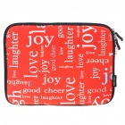 "Stylish Protective Soft Bag with Zipped Close for 10"" Laptop (Red)"