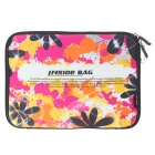 "Flower Protective Soft Bag with Zipped Close for 10"" Laptop"