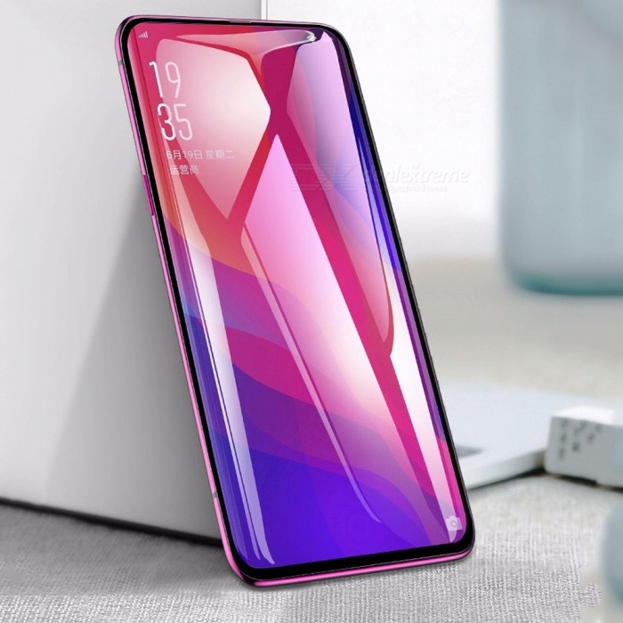 BASEUS Full Covered Curved 0.3mm Ultra Thin HD Anti-Fingerprint Screen Protector Film For OPPO Find X Black/Tempered Glass