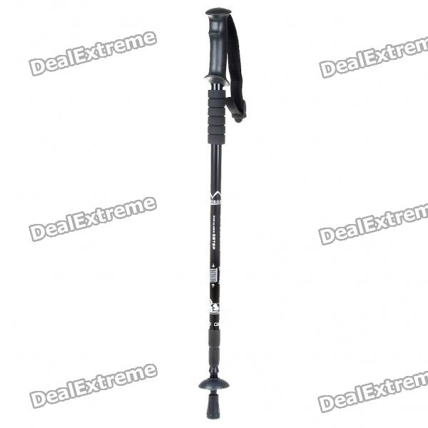 3-Section Telescopic Mountaineering Pole Stick - Black (About 110CM-Length)