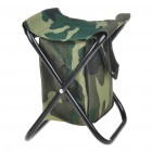 Canvas Foldable Fishing Stool with Bag (Camouflage)