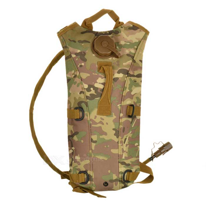 Durable Water Survival Bag Mochila con tubo del agua - Camouflage