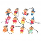 Cute Crayon Shin-Chan Figures Cell Phone Strap Set (12-Piece Pack)