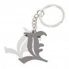 Death Note Stainless Steel Double L Style Keychain - Silver