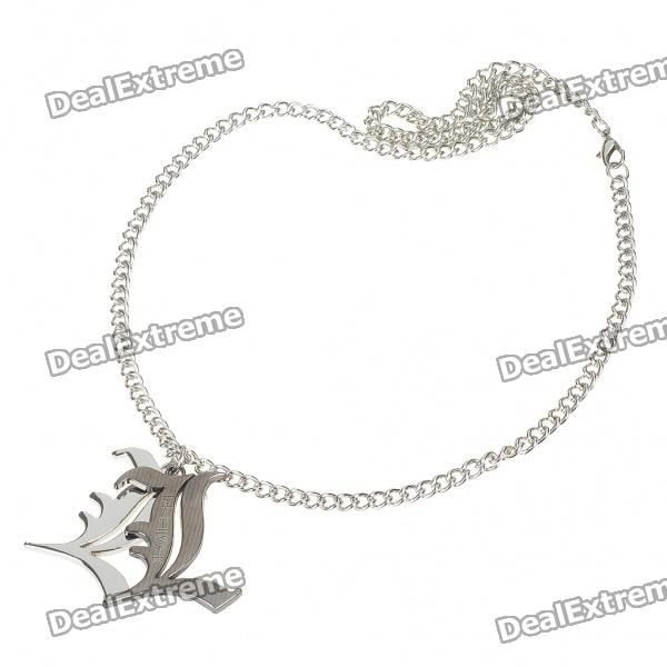 Death Note Stainless Steel Double L Style Necklace - Silver (30CM-Length)