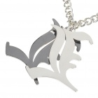 Death Note Acero Inoxidable Doble L Collar Estilo - Plata ( 30cm de longitud)