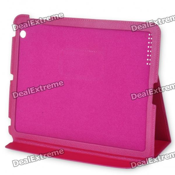 Protective Ultra-thin PU Leather Case for   Ipad 2 (Pink)