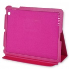Designer's Protective Ultra-thin PU Leather Case for Apple iPad 2 (Pink)