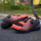 Outdoor Professional Riding Shoes Rotated Buckle Wire Fast Tie Bicycle Shoes Cycling Shoes For Man Woman Orange/7