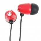 Fashion In-Ear Style Stereo Earphone - Black + Red (3.5mm Jack/110CM-Cable)