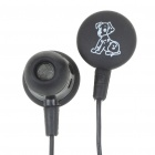 Fashion In-Ear Style Stereo Earphone - Black (3.5mm Jack/90CM-Cable)