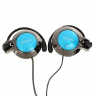 Fashion Stereo Ear-Hook Headset Earphone with Microphone - Blue + Black (3.5MM-Jack/200CM)